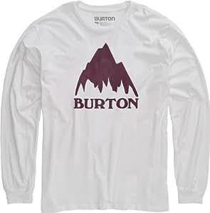 Burton Herren Langarmshirt Mountain Logo Longsleeve, Stout White, 56/58, 11214100101