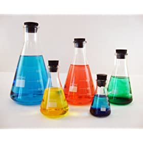 Erlenmeyer Flask Set, 50, 125, 250, 500 and 1000ml