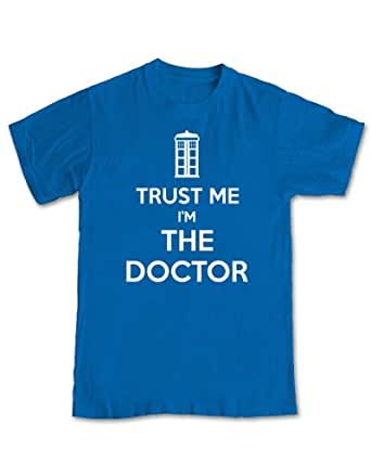 Trust Me I'm The Doctor 'Dr Who' T-shirt (Royal Blue) - XL