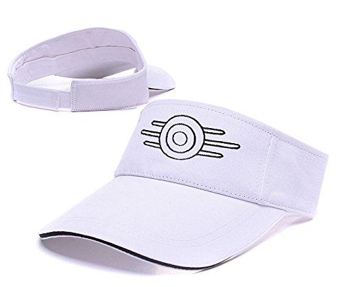 DONGF Caps - Cappellino da baseball - Uomo White Visor Taglia unica