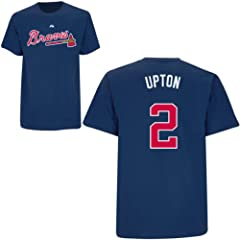 BJ Upton Atlanta Braves Navy Player T-Shirt by Majestic by Majestic
