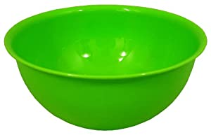 High Quality Plastic Large 2 Litre Green Mixing Salad Bowl