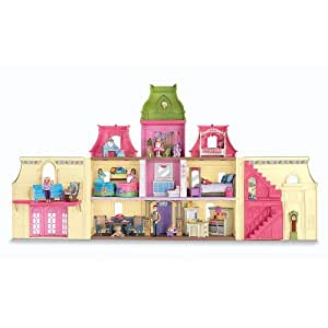 fisher price loving family dream mega set dollhouse w dolls furniture toys games. Black Bedroom Furniture Sets. Home Design Ideas