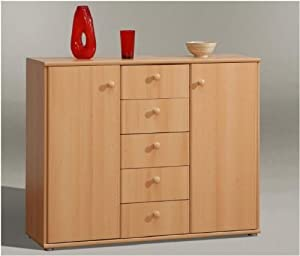 Tempra Wide Beech Sideboard Home or Office Furniture   UK ONLY DELIVERY ONLY       Customer review and more description