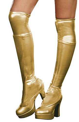 Dreamgirl Metallic Boot Covers Gold One