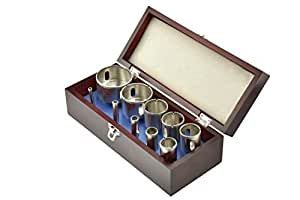 SE DH10HS 10-Piece Stone Diamond Hole Saws in Wooden Box