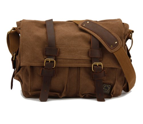 Donner® British Style Retro Mens Womens Canvas + Leather ...