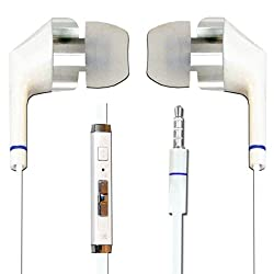 Hello Zone Comfort Fit Stereo Headset Handsfree Headphone Earphone with Mic 3.5 MM Jack for Lenovo Vibe X3 Lite -White