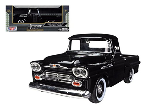 Showcasts 1958 Chevy Apache Fleetside Pickup Truck 1/24 Scale Diecast Model Car Light Blue (Collectible Model Cars compare prices)
