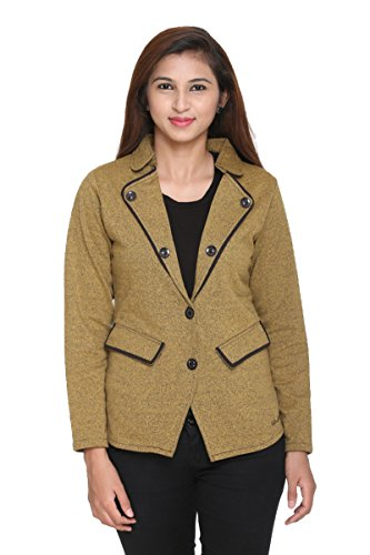 (SW7118) IN Love Women's Bio Washed Poly Cotton Fleece Single Breasted Coat