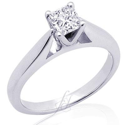 1 Ct Princess Cut Solitaire Diamond Engagement
