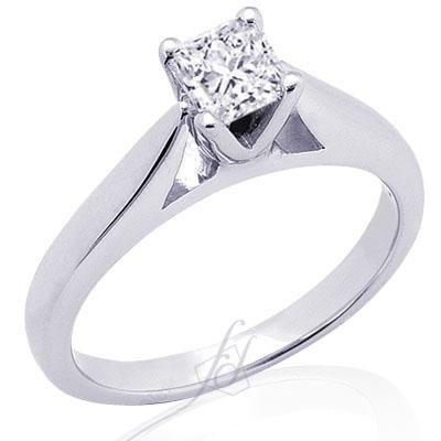 1 Ct Princess Cut Solitaire Diamond Engagement