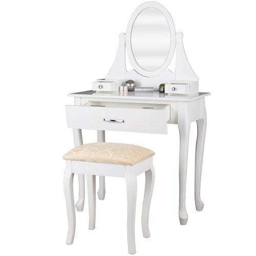Miadomodo smkt04 com specchiera bianca con sgabello mobili da bagno - Specchio make up ikea ...