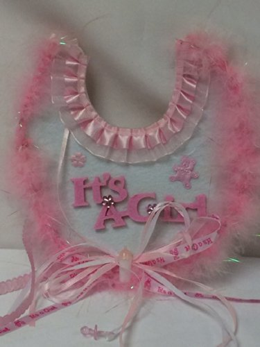 Baby Shower Girl We Welcome You I'T'S A Girl Baby Decoration Bib front-1070894