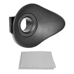 CowboyStudio Rubber Eyepiece Eye Cup Eyecup for CANON Rebel (T3i T3 T2i T1i XTi XT XSi XS), CANON EOS (1100D 600D 550D 500D 450D 400D 350D 300D) + Premium Microfiber Lens Cleaning Cloth