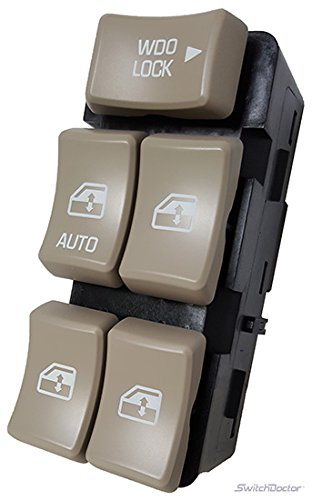 Buick Rendezvous Master Power Window Switch 2002-2007 (Tan Buttons) (Buick Power Window Switch compare prices)