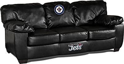 Imperial Officially Licensed NHL Furniture: Classic Leather Sofa/Couch