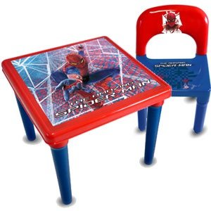 spiderman table and chair kids children boys furniture