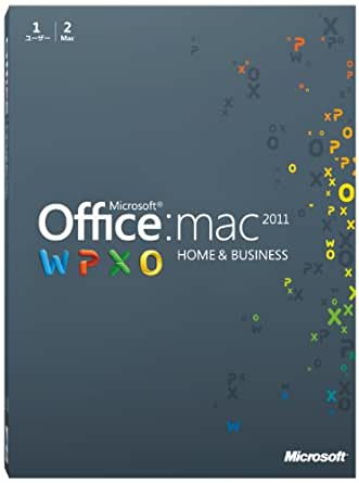 Microsoft Office for Mac Home and Business 2011-2 パック [パッケージ] (PC2台/1ライセンス)