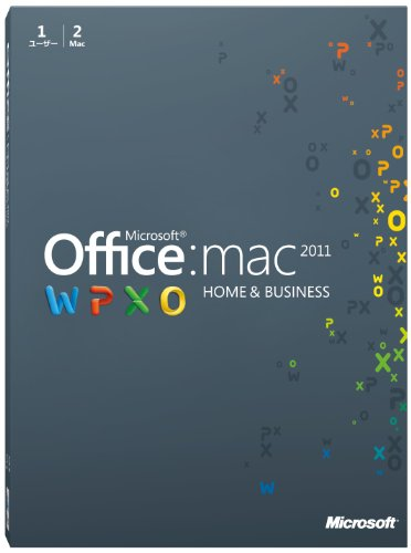 Microsoft+Office+for+Mac+Home+and+Business+2011-2+パック+[パッケージ]+(PC2台%2F1ライセンス)