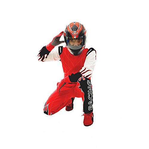jxhracing RB-C06032 One Layer Cotton Fire Protection Auto Go Kart Racing Suit-SFI rated-Small (Go Kart Protection compare prices)