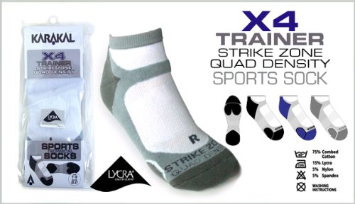 Karakal KC521 Men's X4 Trainer Sock - Assorted