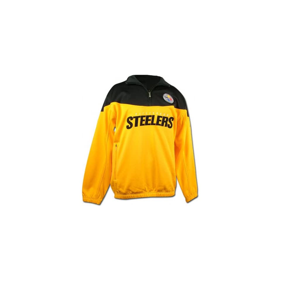 58a6505ed6f Pittsburgh Steelers 1 4 Zip Coaches Pullover Fleece Jacket on PopScreen
