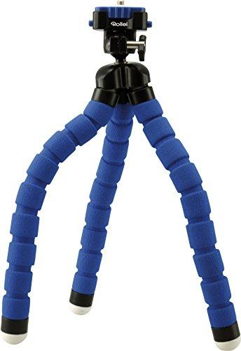 Rollei Monkey Pod Treppiede da Tavolo Flessibili, Compatible con DSLR, DSC, Videocamera e Smartphone, Blu