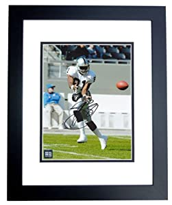 Tim Brown Autographed Hand Signed Oakland Raiders 8x10 Photo - BLACK CUSTOM FRAME -... by Real Deal Memorabilia