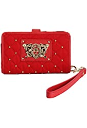 Juicy Couture iPhone Case - Quilted Nylon Wristlet Red