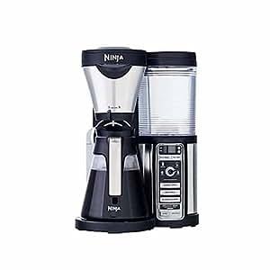 Amazon.com: Ninja coffee maker, bar brewer style, 4 brew size option from single cup, travel mug ...
