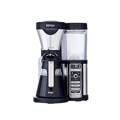 Ninja coffee maker, bar brewer style, 4 brew size option from single cup, travel mug, half ...