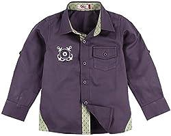 Oye Full Sleeves Twill Shirt 2-3 Years - Lavender