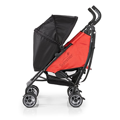 Summer Infant 3D Flip Convenience Stroller, Rerun Red