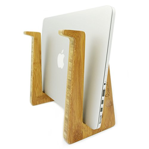 Ibeauti Detachable Laptop Vertical Holder, Modern Folding Wooden Desktop Stand for Tablet iPad Macbook Air or Pro ( Large )