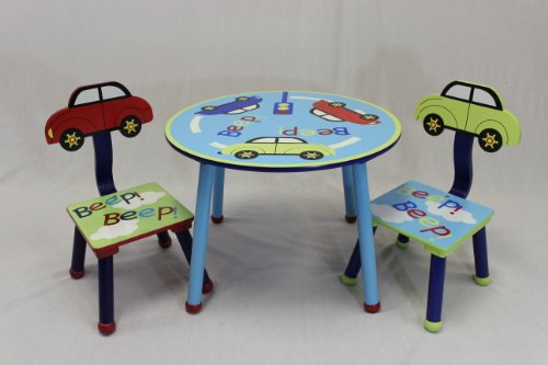 eHemco Kids Table and Chair Set - Car Theme (Reading Table For Kids compare prices)