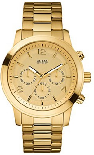 GUESS Men's U15061G2  Chronograph Goldtine Stainless Steel Watch
