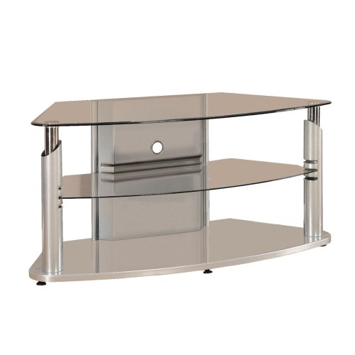 Cheap Powell Glossy Silver Plasma TV Stand (POWL968-693)