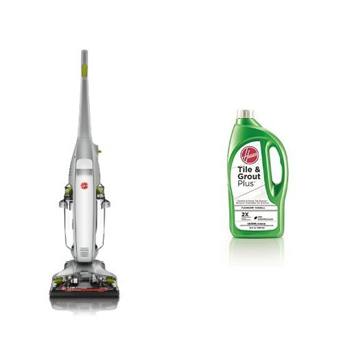 Hoover FloorMate Deluxe Hard Floor Cleaner, FH40160PC - Corded and Hoover 2X FloorMate Tile & Grout Plus Hard Floor Cleaning Solution 32 oz, AH30435 Bundle (Hoover Deluxe Floormate compare prices)