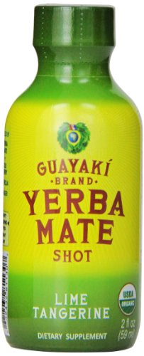 Guayaki Yerba mate organic energy shot Lime Tangerine 2 OZ, 12 per case. (Guayaki Energy Drinks compare prices)