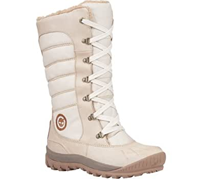 Timberland Women's EarthkeepersTM Mount Holly Tall Lace Duck Boot,Bone/Bone Waterproof Leather/Fabric,US 11.5 W