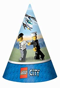 LEGO City Cone Hats Party Accessory from AMSCAN