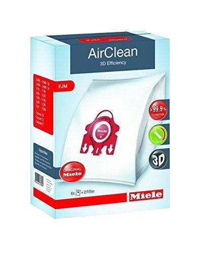 Miele Vacuum Cleaner Bags Classification FJM AirClean S241-S256i S290-S291 S300i-S399 S500-S578 S700-S758 S4000-S4999 S6000-S6999 (4 bags 2 filters)