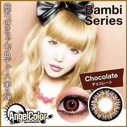 Angel Color エンジェルカラー バンビ チョコレート (1箱2枚入)度無し1ヶ月使い捨てソフトカラーコンタクトレンズ カラコン 益若つばさ カラーコンタクト