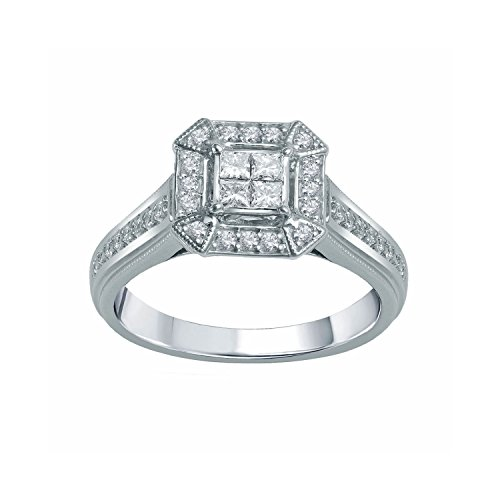 3/8 Ct. Tw. Diamond Engagement Ring In 10K White Gold (Size 8.0)