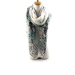 AngelShop Women Lily Flowers Printed Encryption Scarves Shawl BYWJ