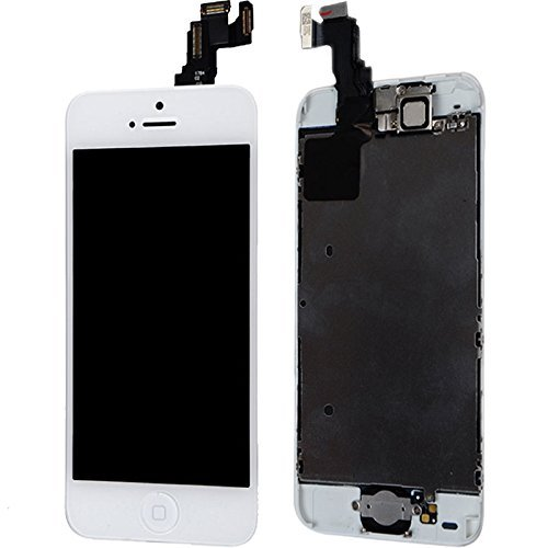 For Iphone Lcd Display Touch Screen Glass Digitizer Assembly With Spare Parts (Home Button & Camera & Flex Cable Sensor) 5C White