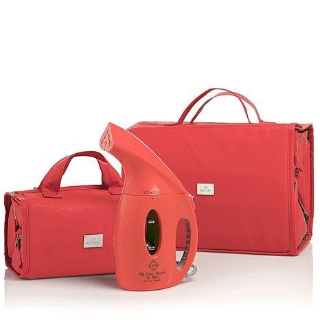 Joy Mangano 900 Watt Go Mini And Better Beauty Case Deluxe Set Coral ~ Msrp $98 front-400186