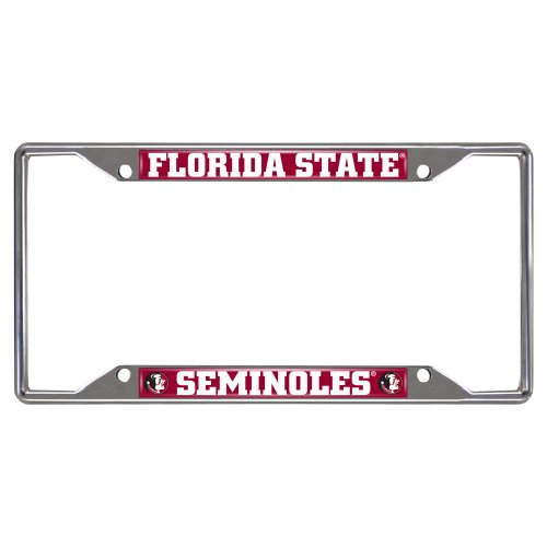 FANMATS NCAA Florida State University Seminoles Chrome License Plate Frame (Farm License Plate Frame compare prices)