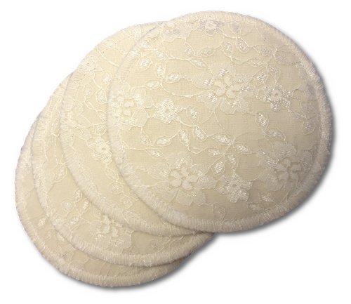 NuAngel 4 Count Washable Nursing Lace Pads - 1